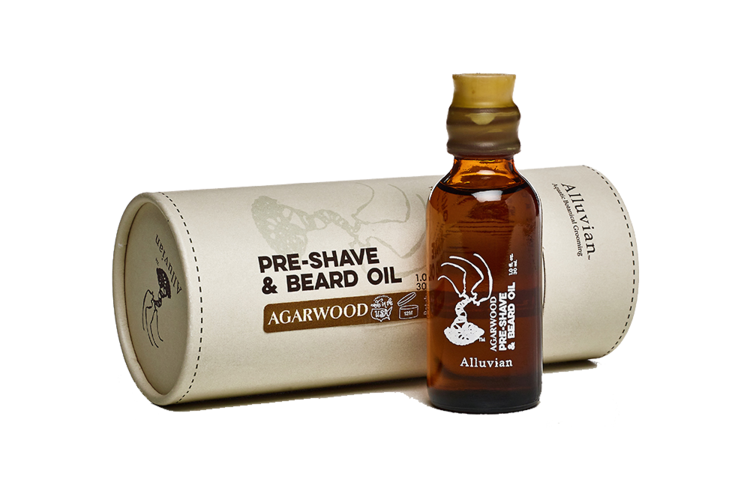 Image of   Alluvian Agarwood PreShave & Beard Oil 30 ml