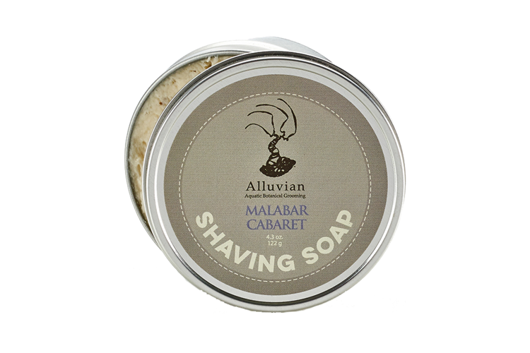 Image of   Alluvian Malabar Caberet Shave Soap Tin