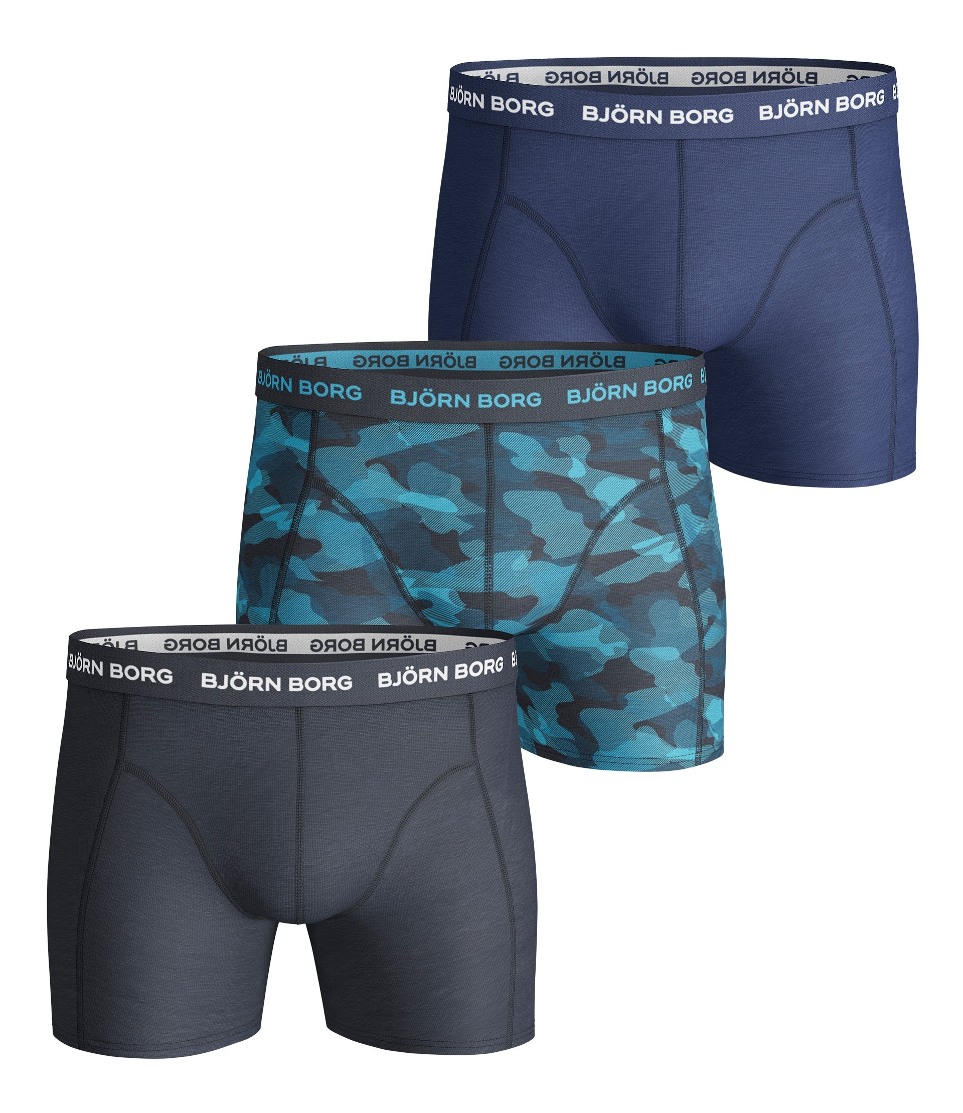 Image of   Björn Borg 3-Pack Boxershorts (Total Eclipse)