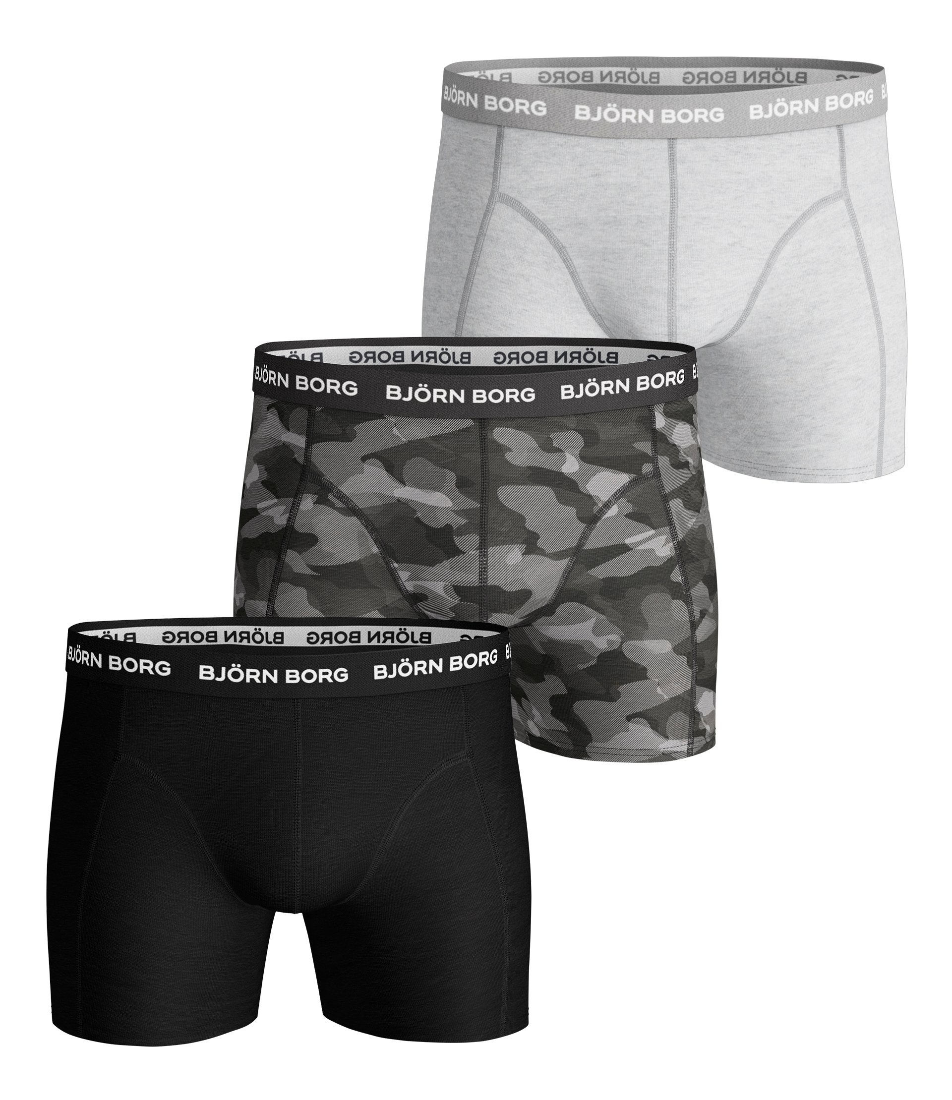Image of   Björn Borg 3-Pack Boxershorts (Black Beauty)