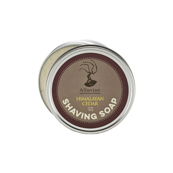 Image of   Alluvian Himalyan Cedar Shave Soap Tin