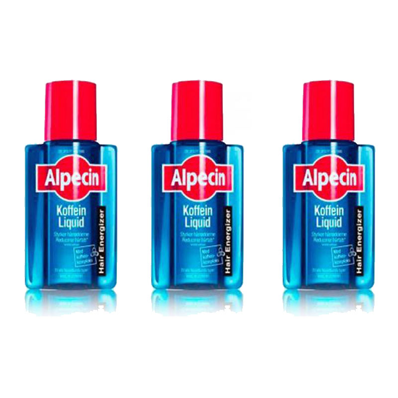 Image of   3 x Alpecin Kaffein Liquid - Mot Hårtap (200 ml)