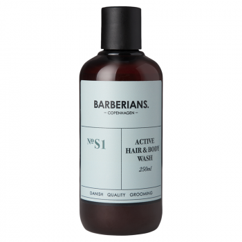 Barberians Active Hair & Body Wash (250 ml) (made4men)