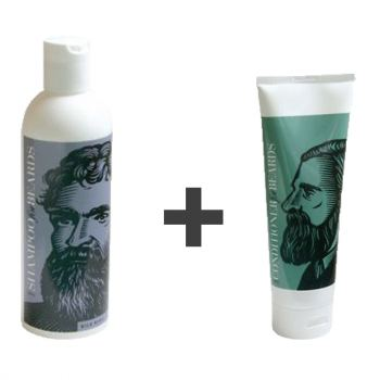 Beardsley Shampoo - Shampoo til Skæg (Wild Berry Flavor - 236 ml) + Conditioner - Balsam til Skæg (Wild Berry Flavor - 236 ml)