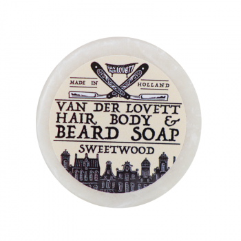Van Der Lovett Hair, Body & Beard Shampoo Soap Bar Sweetwood (60 g) (made4men)
