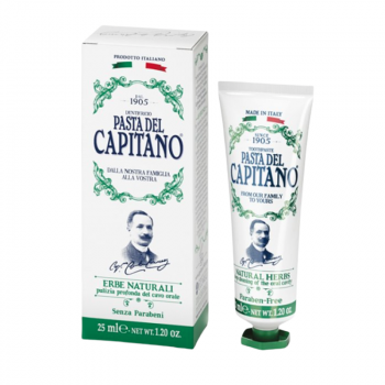 Pasta del Capitano 1905 Natural Herbs Travel Size Toothpaste (25 ml) (made4men)
