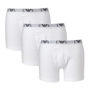 Emporio Armani 3 Pack Genuine Cotton - Boxer Brief (Hvit)
