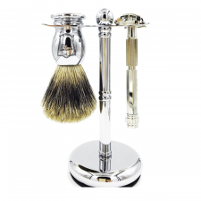Parker 60R Safety Razor & Pure Badger 3-Piece Shave Set (made4men)