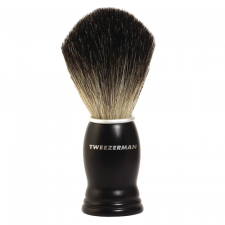Tweezerman Deluxe Shaving Brush Black