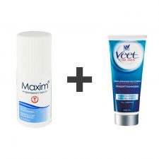 Maxim Antiperspirant (Roll-On 29.6 ml) + Veet For Men Gel Cream (200 ml)