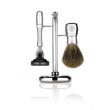 Gentlemen's Tonic Mayfair Shaving Set (Chrome) - kr 1859 | Hurtig levering