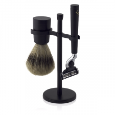 Njord Mach3 Razor Shaving Set (Mach3 Razor, Best Badger Shaving Brush & Stand)