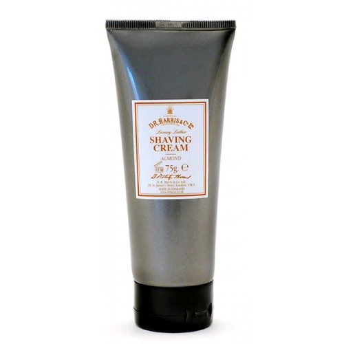 Image of   D.R. Harris & Co. Mandel Luksus Barberkrem i Tube (75 g)