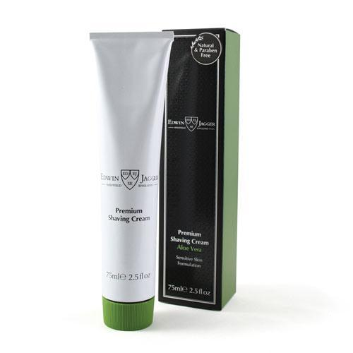 Image of   Edwin Jagger Natural Premium Shaving Cream Med Aloe Vera (75 ml)
