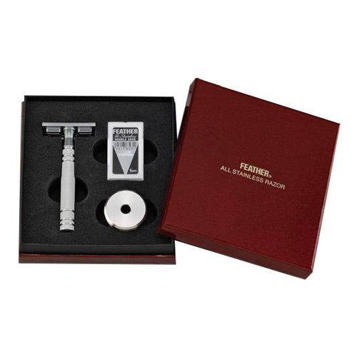 Image of   Feather Luxury Safety Razor (med Stand)