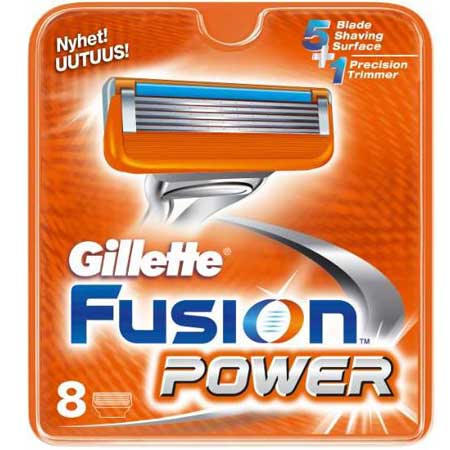 Image of   Gillette Fusion Power Barberblade (8 stk.)