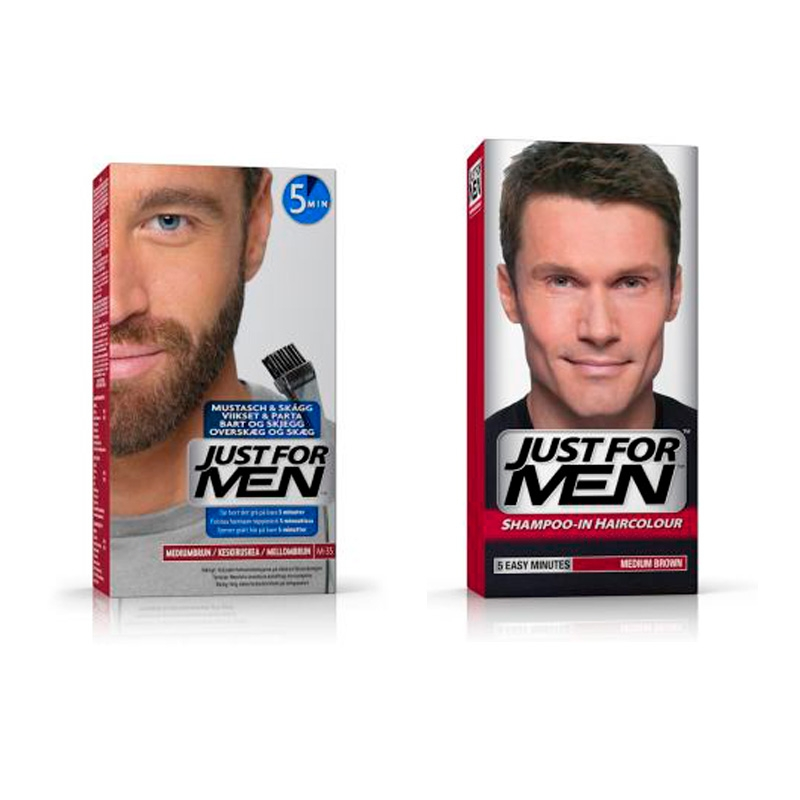 Billede af Just For Men Skjeggfarge + Just For Men Hårfarge (Medium Brown)