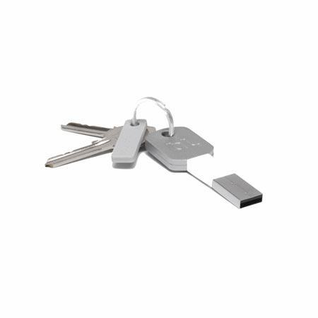 Bluelounge Kii - Lightning/USB lader iPhone 5 eller eldre (Hvit)