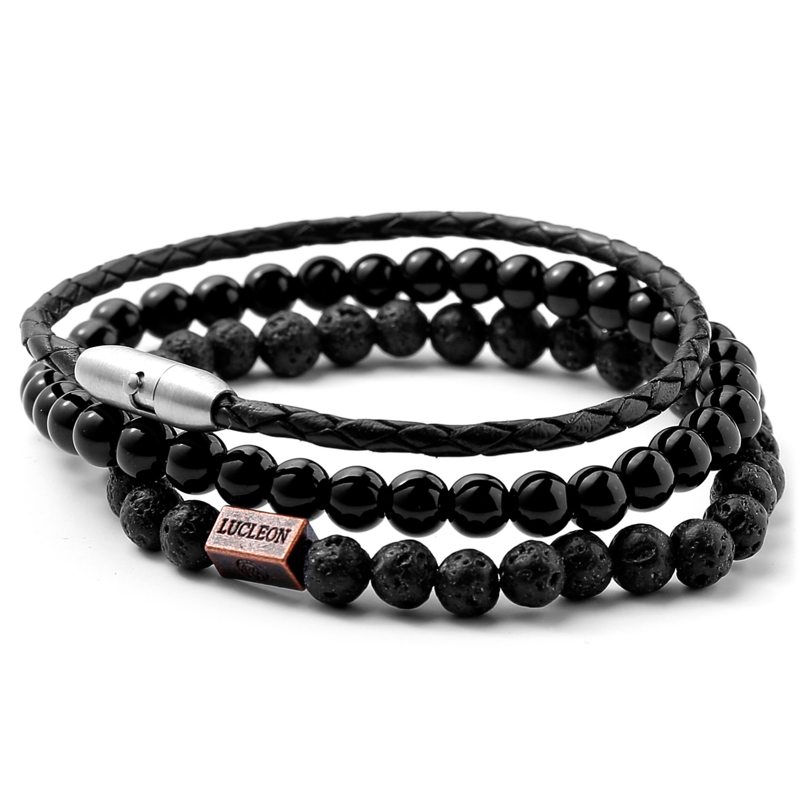 Image of   Lucleon Mix and Match Armbånd (Sort)