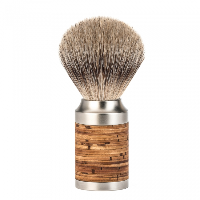 Image of   Mühle Rocca Silvertip Barberkost, Rustfrit Stål