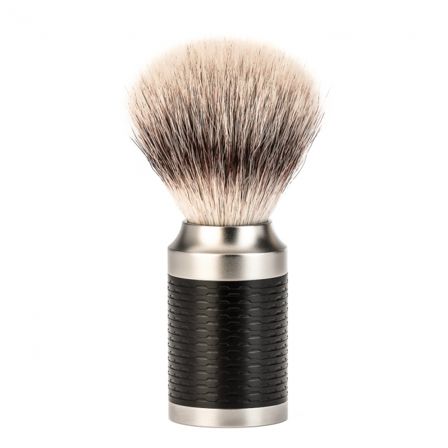 Image of   Mühle Rocca Silvertip Fiber® Barberkost, Rustfrit Stål (21 mm)