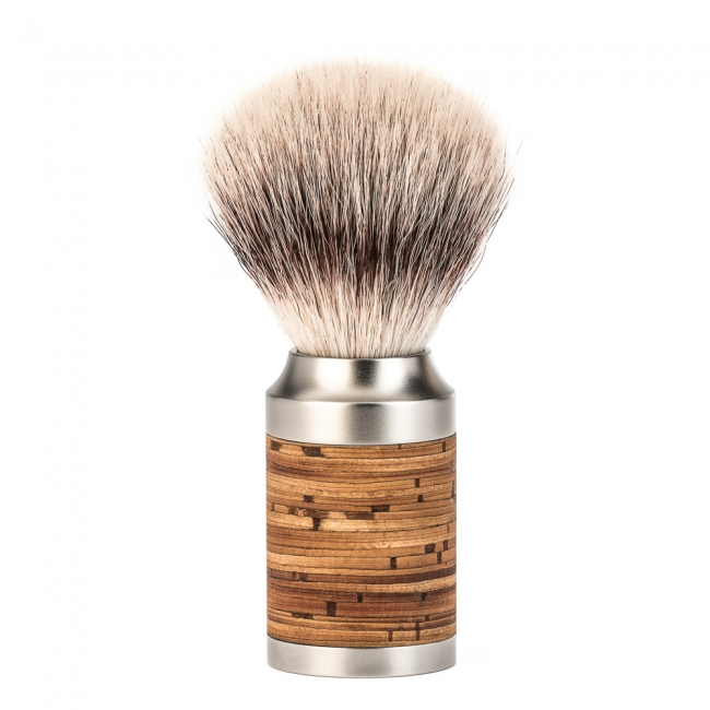 Image of   Mühle Rocca Silvertip Fiber® Barberkost, Rustfrit Stål