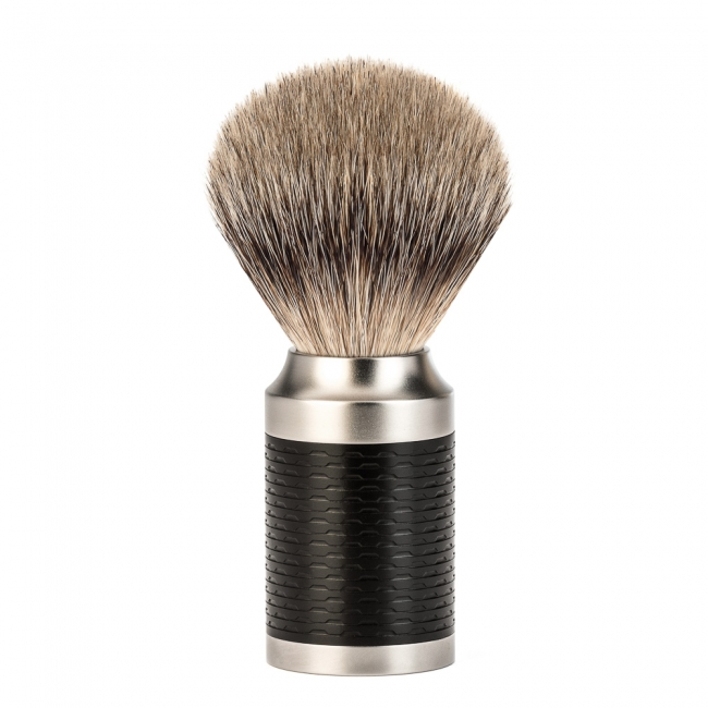 Image of   Mühle Rocca Silvertip Barberkost, Rustfrit Stål (21 mm)
