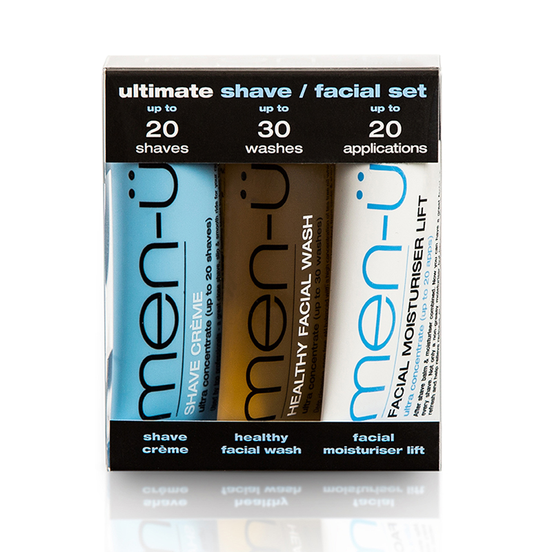 Image of   Men-Ü Ultimate Shave/Facial Set (3 x 15 ml)
