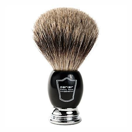 Image of   Parker BCPB Svart Barberkost (Pure Badger)