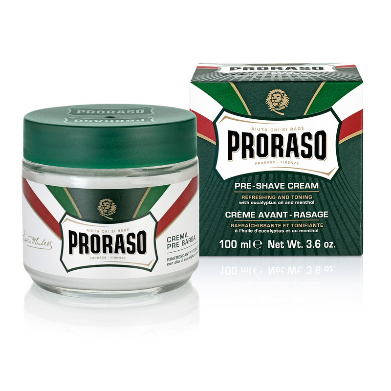 Image of   Proraso Pre-Shave Cream - Eucalyptus Oil & Menthol (100 ml)