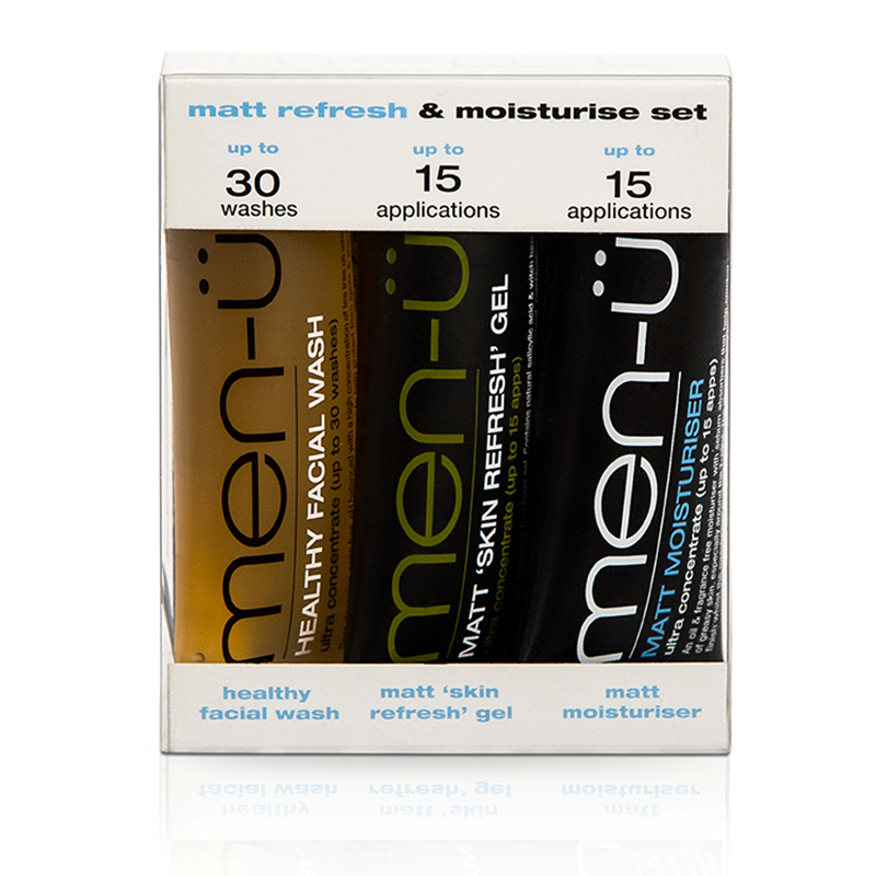Image of   Men-Ü Matt Refresh & Moisturise Set (3 x 15 ml)