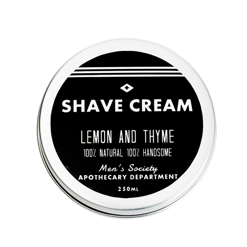 Image of   Mens Society Shave Cream - Lemon and Thyme (250 ml)