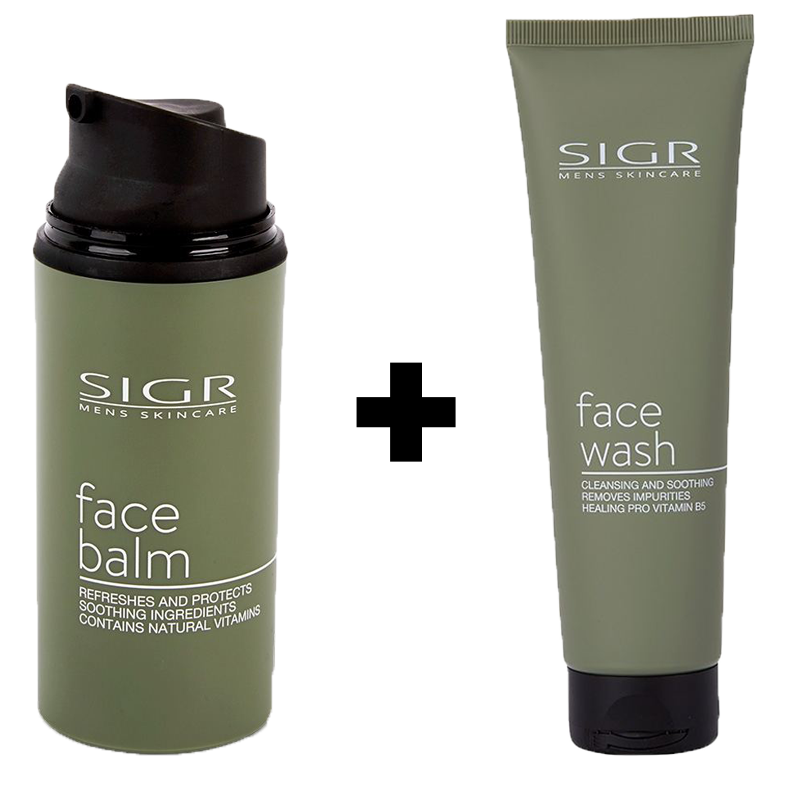 Image of   SIGR Face Balm (80 ml) + SIGR Facewash (150 ml)