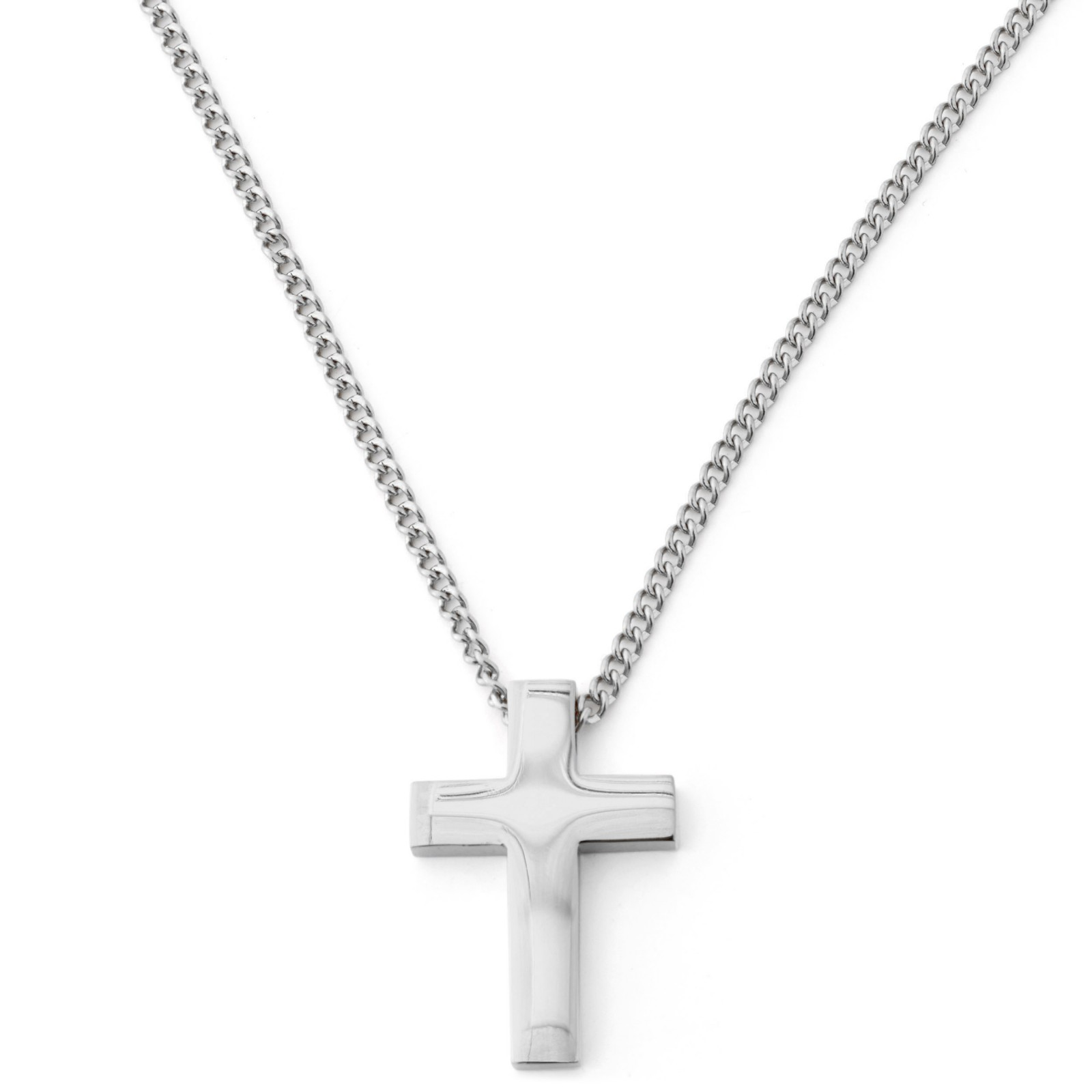 Image of   Lucleon Silver Cross Kjede (Sølv)