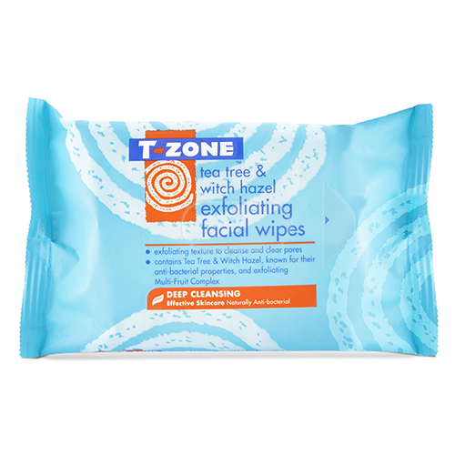 Image of   T-Zone Exfoliating Facial Wipes (20 stk)