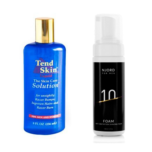 Image of   Tend Skin Solution (236 ml) + Njord Foam - Anti-Irritation Shaving Foam (150 ml)