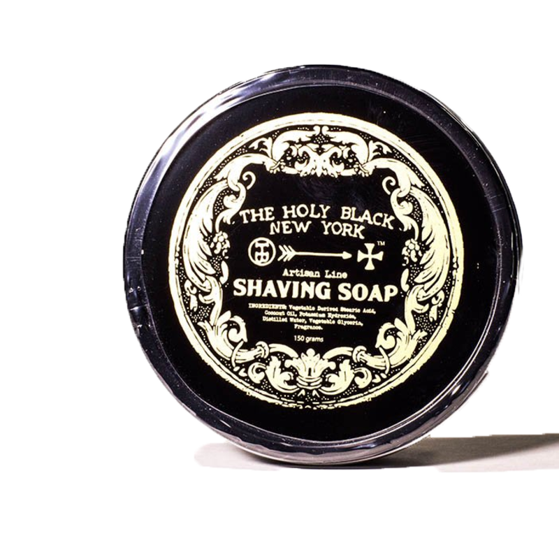Billede af The Holy Black Shaving Soap Artisan Line, Gunpowder & Spice (150g)